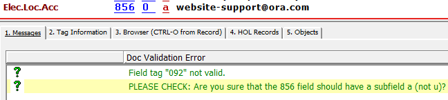 New in Aleph GUI: Checking URLs for Errors – What's New @ OLS57
